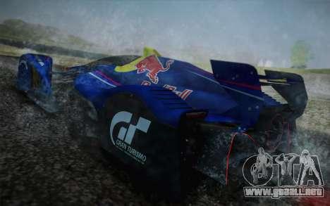 GT Red Bull X10 Sebastian Vettel para vista lateral GTA San Andreas