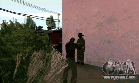 Realista de la estación de bomberos en Las Ventu para GTA San Andreas sucesivamente de pantalla