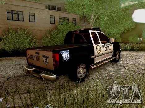 Chevrolet Colorado Sheriff para la visión correcta GTA San Andreas