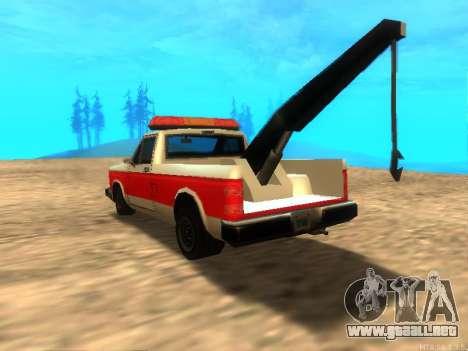 Nuevo Remolque (Bobcat) para GTA San Andreas vista posterior izquierda