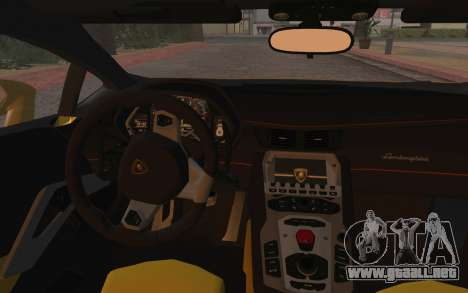 Lamborghini Huracan 2013 para visión interna GTA San Andreas