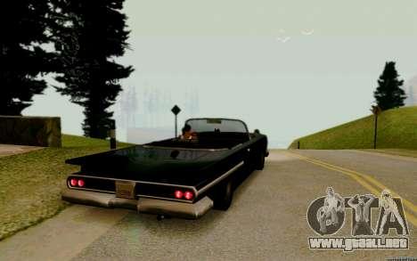 Voodoo Convertible (versión con faros) para GTA San Andreas vista posterior izquierda