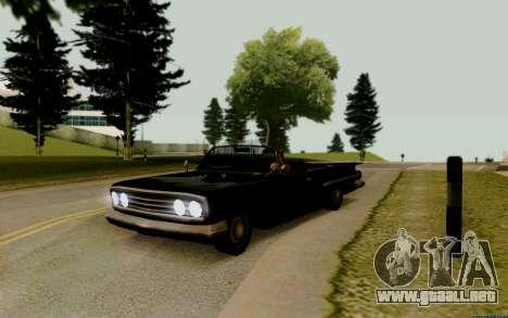 Voodoo Convertible (versión con faros) para GTA San Andreas