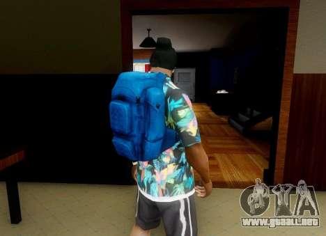 En la mochila de el Estado de Descomposición para GTA San Andreas segunda pantalla