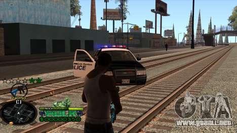 C-HUD Hulk para GTA San Andreas quinta pantalla