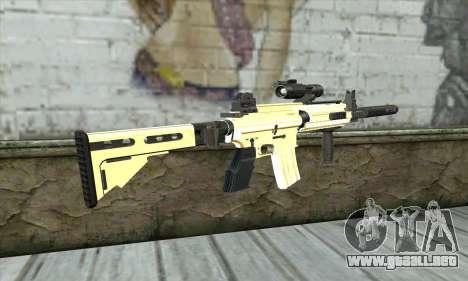 Golden M4A1 para GTA San Andreas segunda pantalla