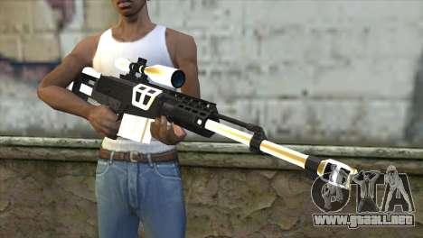 Golden Sniper Rifle para GTA San Andreas tercera pantalla