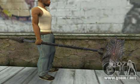 El hacha de Skyrim para GTA San Andreas tercera pantalla