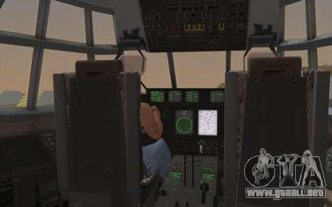 C-130H Hercules para visión interna GTA San Andreas
