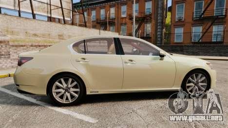Lexus GS 300h para GTA 4 left