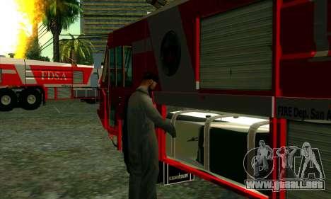 Realista de la estación de bomberos en Las Ventu para GTA San Andreas