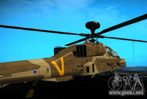 AH-64 Longbow Apache para la visión correcta GTA San Andreas