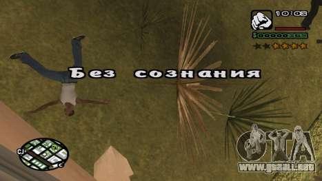 Fuente nueva V.3 para GTA San Andreas para GTA San Andreas sucesivamente de pantalla