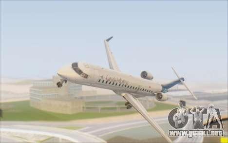Garuda Indonesia Bombardier CRJ-700 para visión interna GTA San Andreas