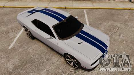Dodge Challenger SRT8 2012 para GTA 4 vista superior