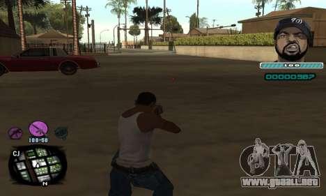 C-HUD Ice Cube para GTA San Andreas segunda pantalla