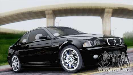 BMW M3 E46 2002 para visión interna GTA San Andreas