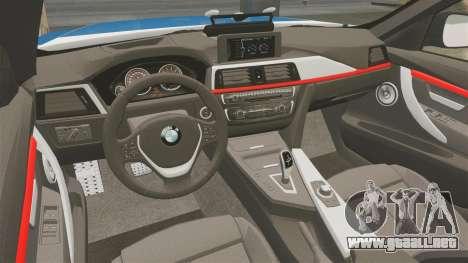 BMW F30 328i Finnish Police [ELS] para GTA 4 vista interior