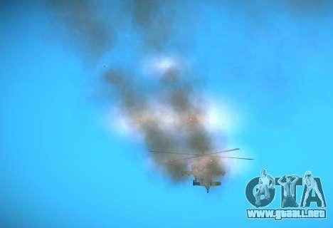 AH-64 Longbow Apache para GTA San Andreas vista hacia atrás