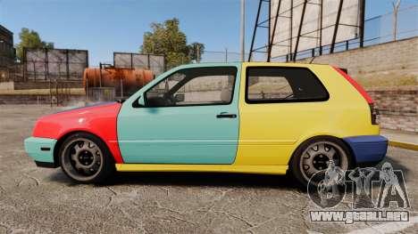 Volkswagen Golf MK3 Harlequin para GTA 4 left