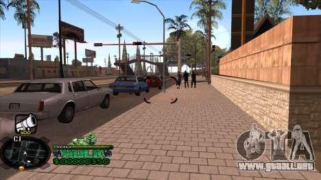 C-HUD Hulk para GTA San Andreas segunda pantalla