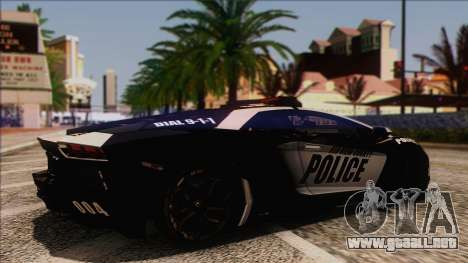 Lamborghini Aventador LP 700-4 Police para la visión correcta GTA San Andreas