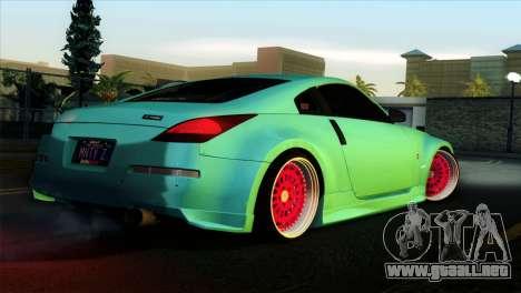 Nissan 350Z Minty Fresh para la visión correcta GTA San Andreas