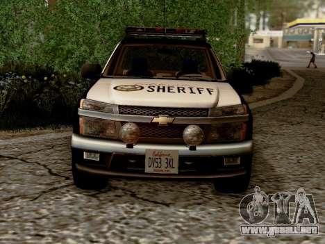 Chevrolet Colorado Sheriff para visión interna GTA San Andreas