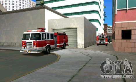 Realista de la estación de bomberos de Los Santo para GTA San Andreas segunda pantalla