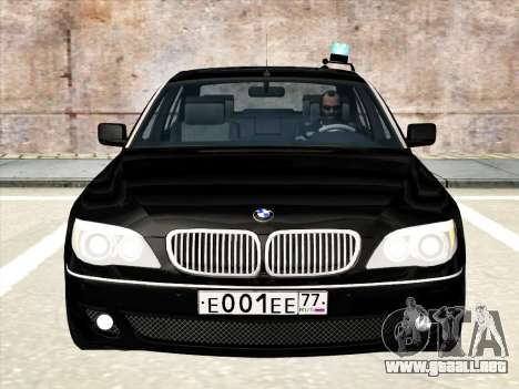 BMW 760Li para la vista superior GTA San Andreas