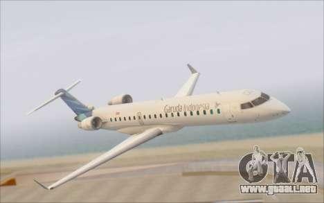 Garuda Indonesia Bombardier CRJ-700 para la visión correcta GTA San Andreas