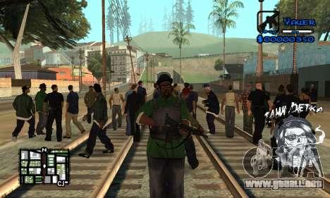 C-HUD Tawi Detka para GTA San Andreas segunda pantalla