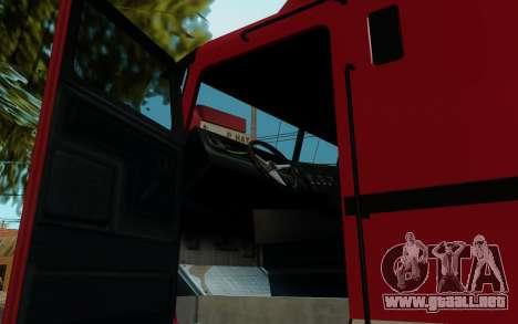 JoBuilt Transportista Fixet из GTA 5 para GTA San Andreas vista posterior izquierda