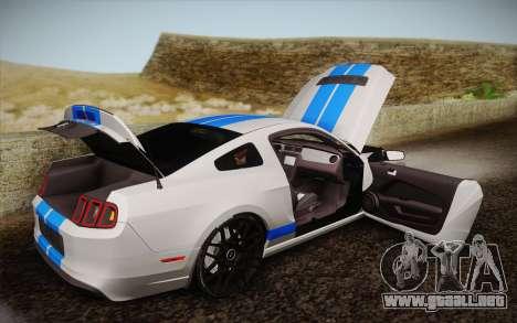 Ford Shelby GT500 2013 para vista lateral GTA San Andreas