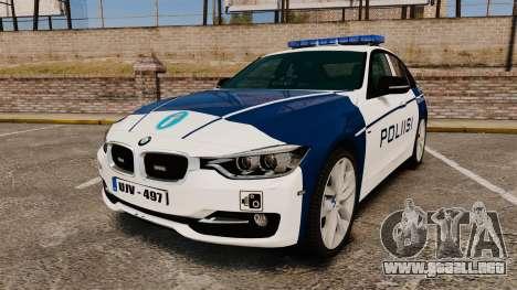BMW F30 328i Finnish Police [ELS] para GTA 4