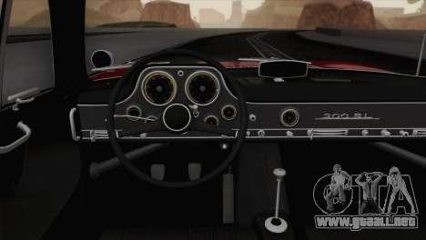 Mercedes-Benz 300SL 1955 para GTA San Andreas vista hacia atrás