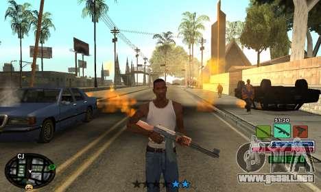 C-HUD Rainbow para GTA San Andreas segunda pantalla