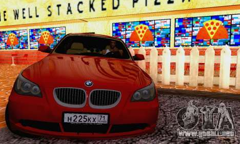 BMW 530xd para GTA San Andreas left