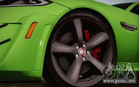 Jaguar XKR-S GT 2013 para la visión correcta GTA San Andreas