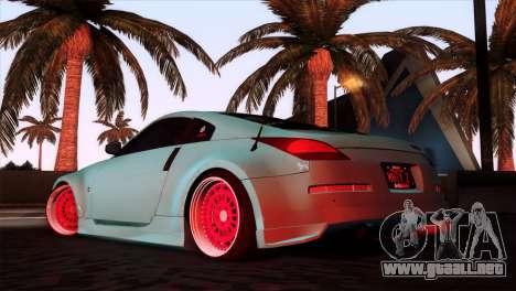 Nissan 350Z Minty Fresh para GTA San Andreas left