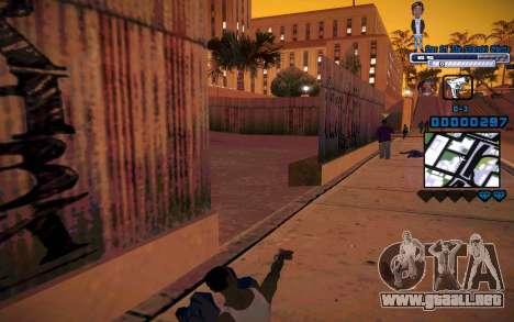 C-HUD One Of The Legends Ghetto para GTA San Andreas sucesivamente de pantalla