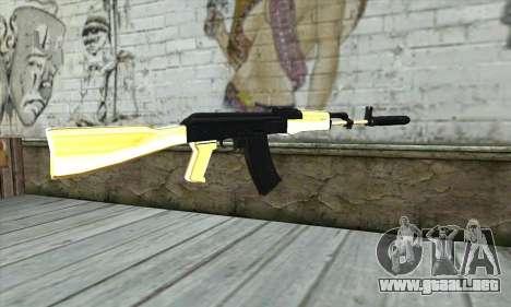 Golden AK47 para GTA San Andreas segunda pantalla