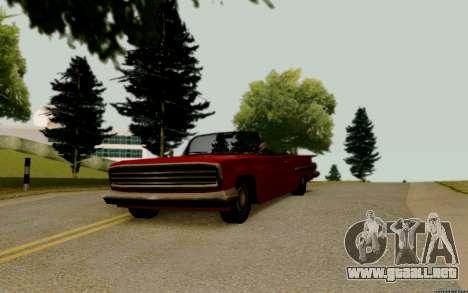 Voodoo Convertible (versión sin luces) para la visión correcta GTA San Andreas