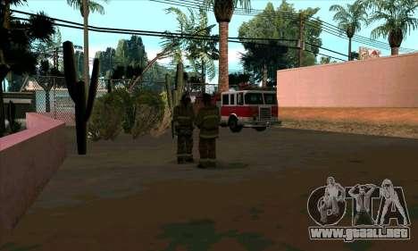 Realista de la estación de bomberos en Las Ventu para GTA San Andreas segunda pantalla