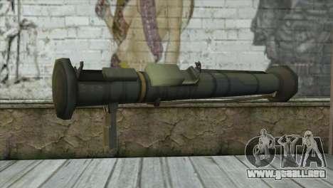 AT4 Rocket Launcher para GTA San Andreas