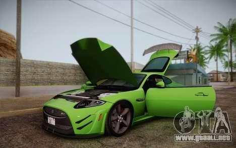 Jaguar XKR-S GT 2013 para visión interna GTA San Andreas