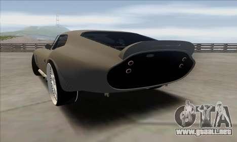 Shelby Cobra Daytona para GTA San Andreas left