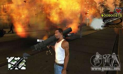 C-HUD New Liberia para GTA San Andreas sucesivamente de pantalla