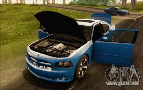 Dodge Charger SRT8 2006 para visión interna GTA San Andreas