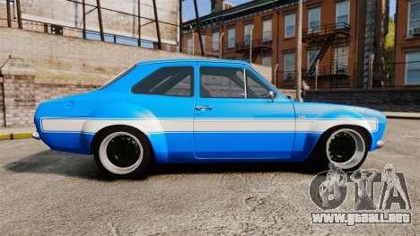 Ford Escort MK1 FnF Edition para GTA 4 left